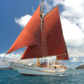 Sailing on the Whitsundays onboard a tall ship